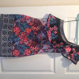 Vici tropical print dress. Never worn! Size large